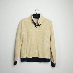 J.Crew half button up teddy pullover jacket